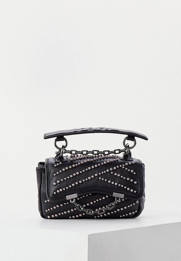 женская сумка с ручками karl lagerfeld, черная