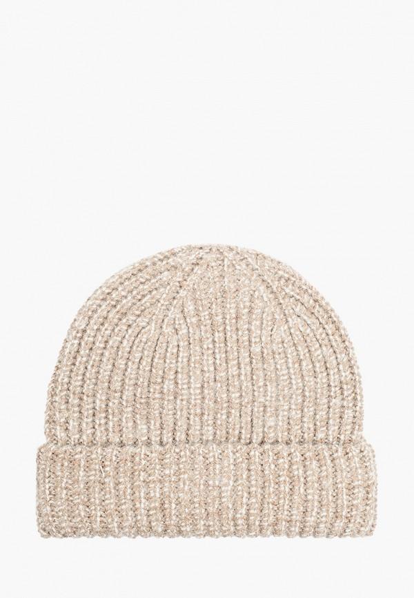 женская шапка tom tailor, бежевая