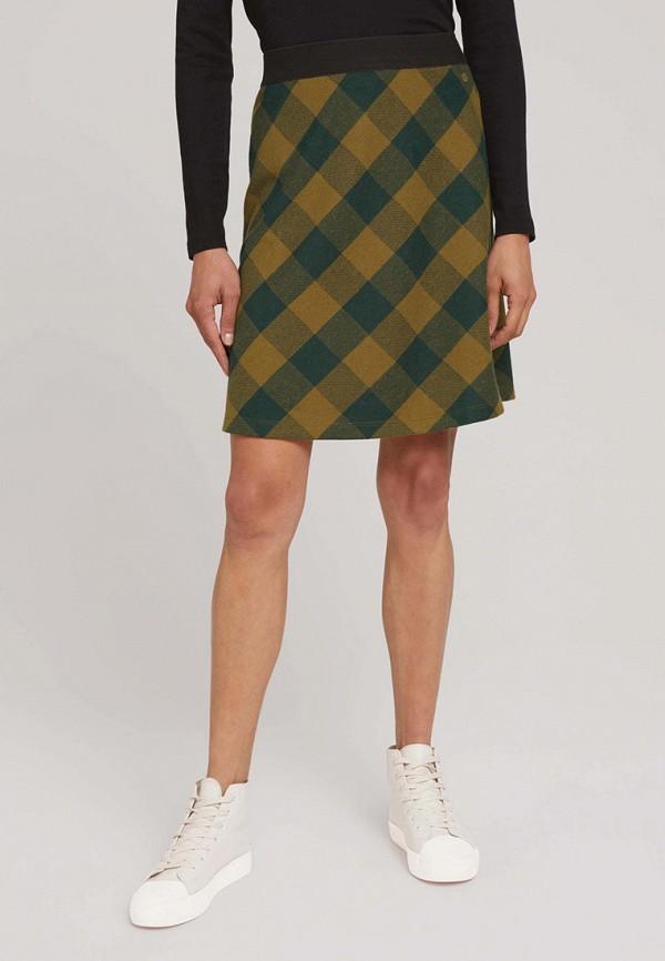 женская юбка tom tailor, хаки