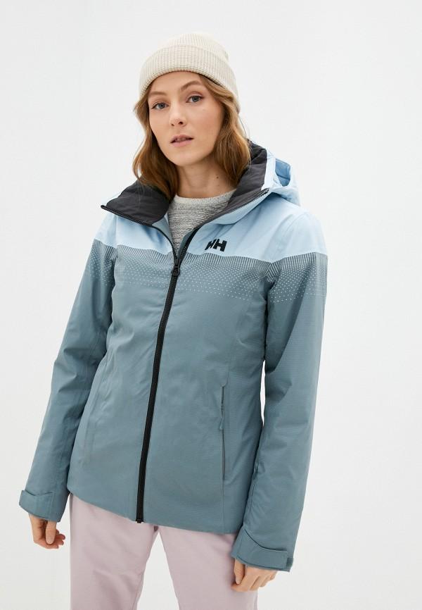 женская горнолыжные куртка helly hansen, бирюзовая