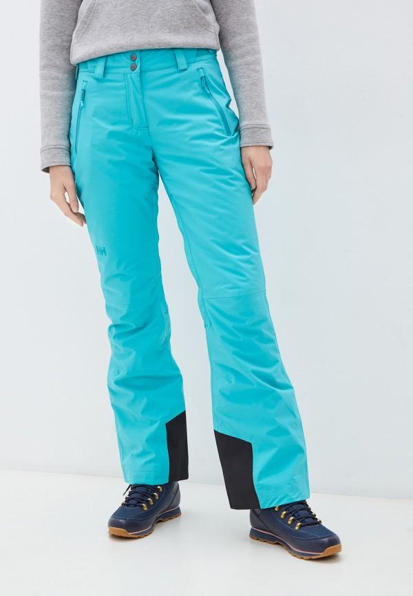 женские горнолыжные брюки helly hansen, бирюзовые