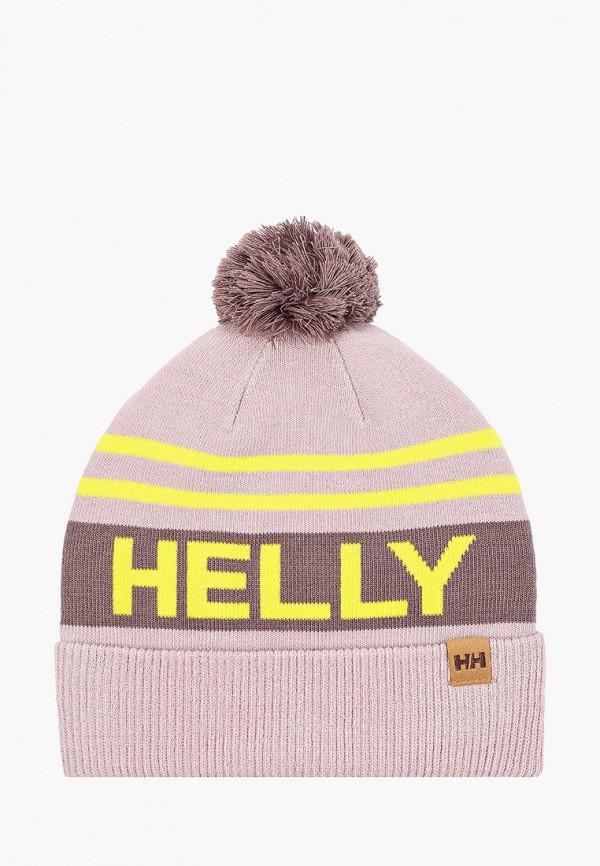 женская шапка helly hansen, розовая
