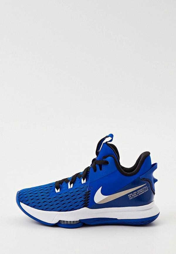 женские низкие кроссовки nike, синие