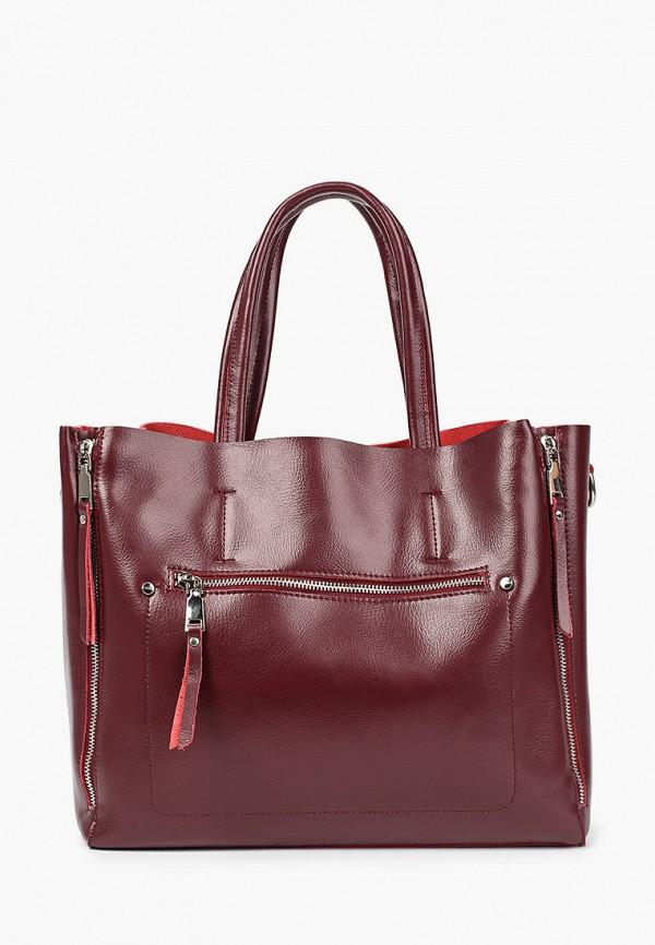 женская сумка с ручками moda sincera, бордовая