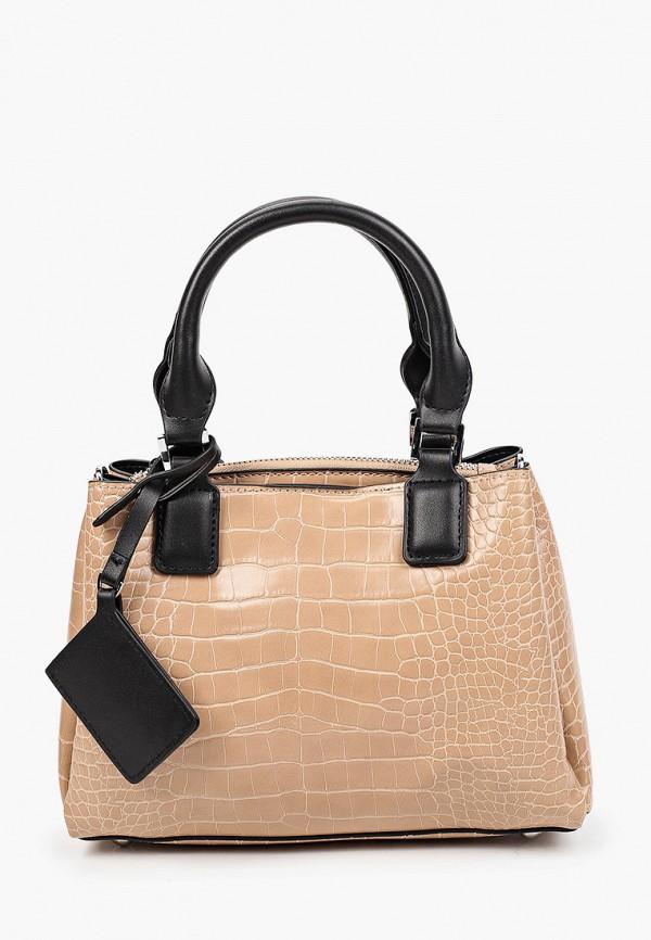 женская сумка с ручками moda sincera, бежевая