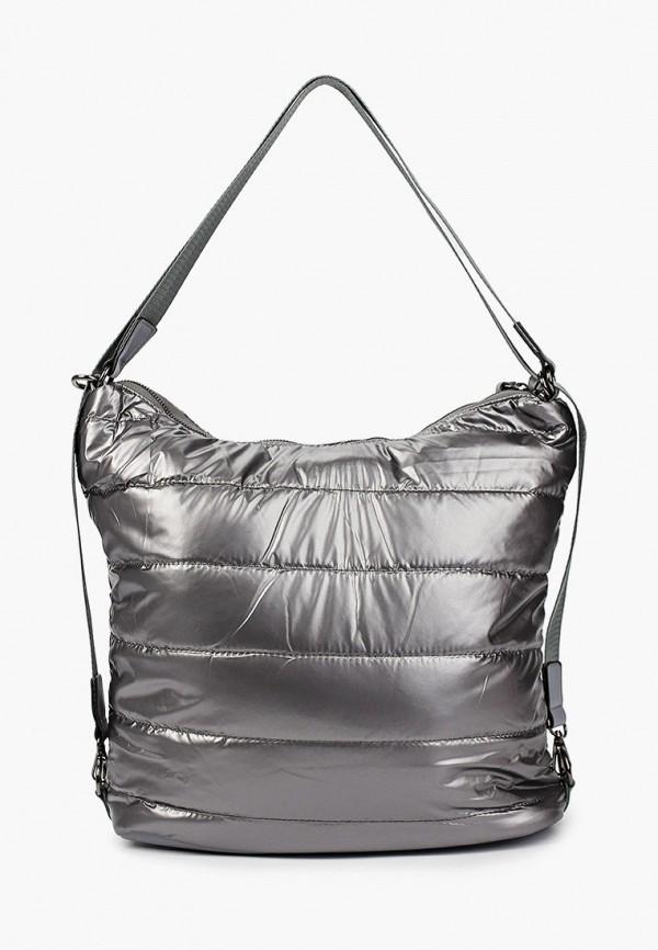 женская сумка с ручками moda sincera, серебряная