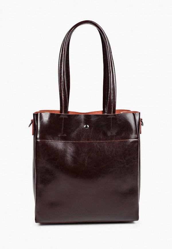 женская сумка с ручками moda sincera, коричневая