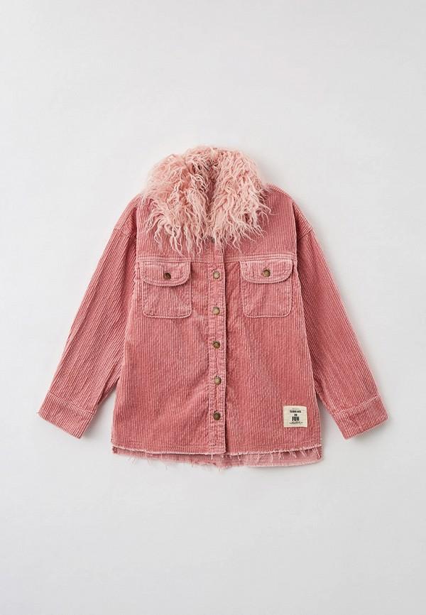 рубашка choupette для девочки, розовая