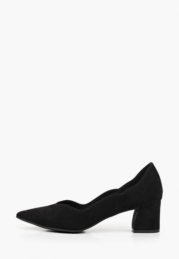 женские туфли с закрытым носом marco tozzi, черные