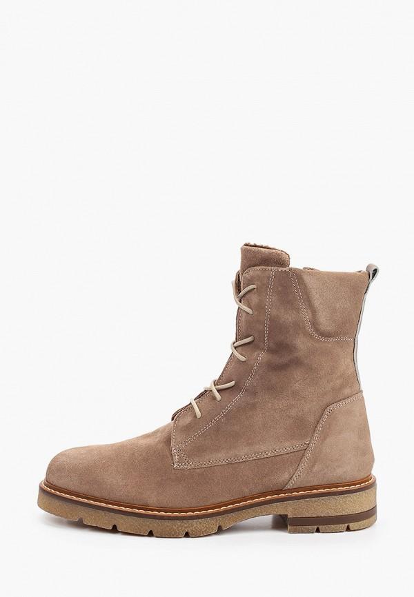 женские высокие ботинки marco tozzi, коричневые