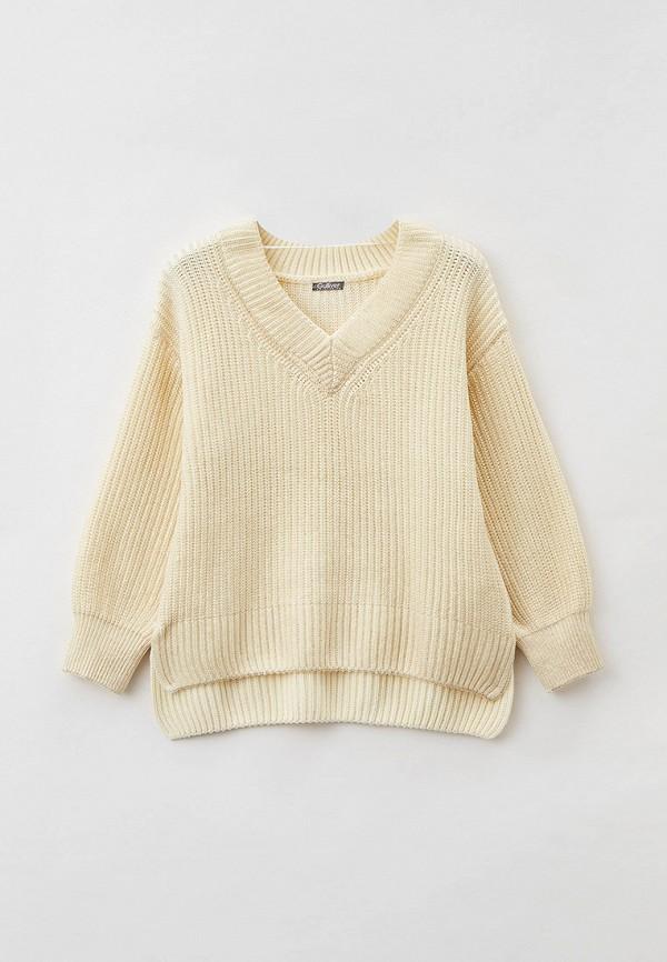 пуловер gulliver для девочки, бежевый