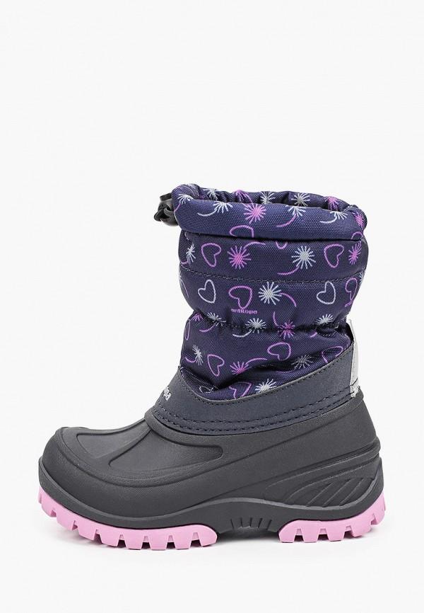 сапоги antilopa для девочки, фиолетовые