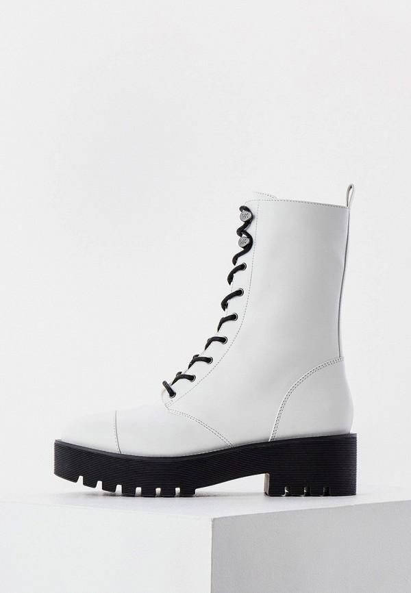 женские высокие ботинки michael kors, белые