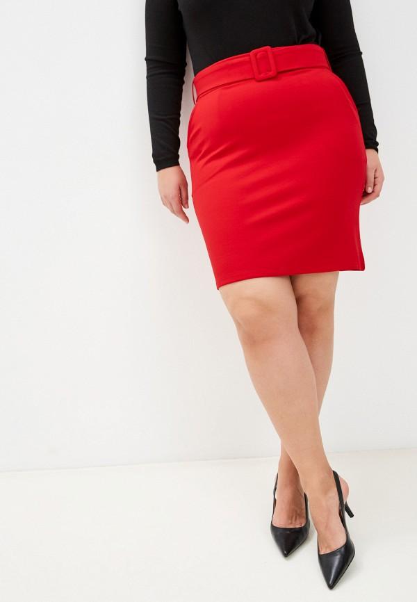 женская прямые юбка snow airwolf, красная