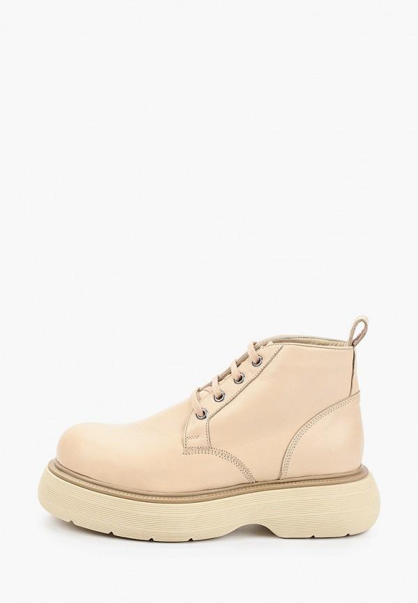 женские высокие ботинки d.moro, бежевые