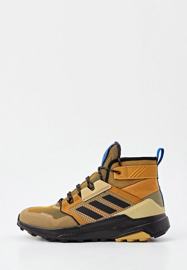 мужские ботинки adidas, коричневые