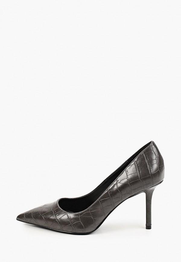 женские туфли-лодочки mango, серые