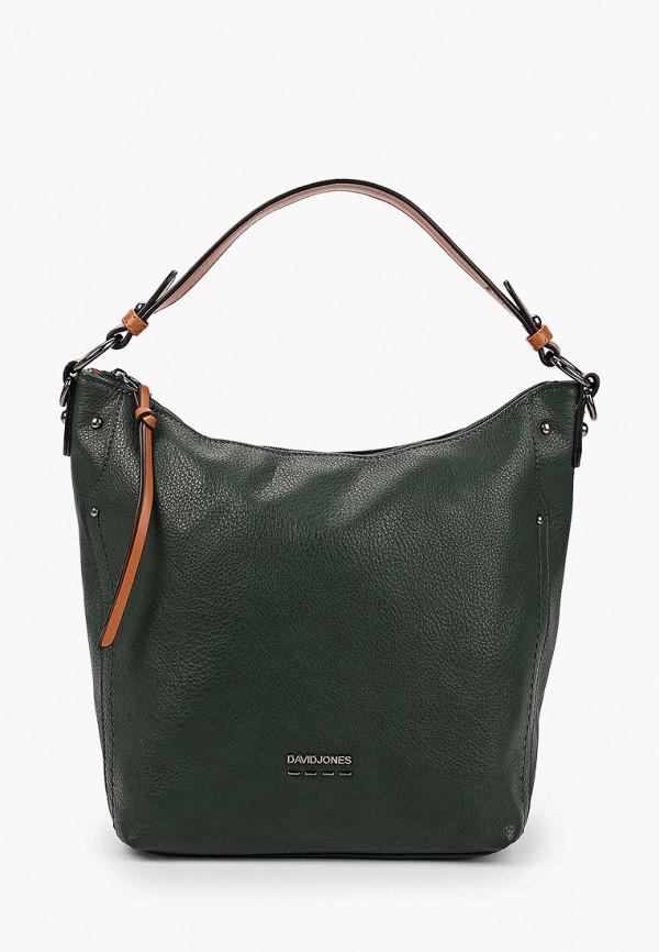 женская сумка с ручками david jones, зеленая