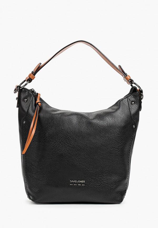 женская сумка с ручками david jones, черная
