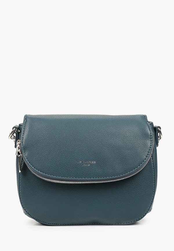 женская сумка через плечо david jones, бирюзовая