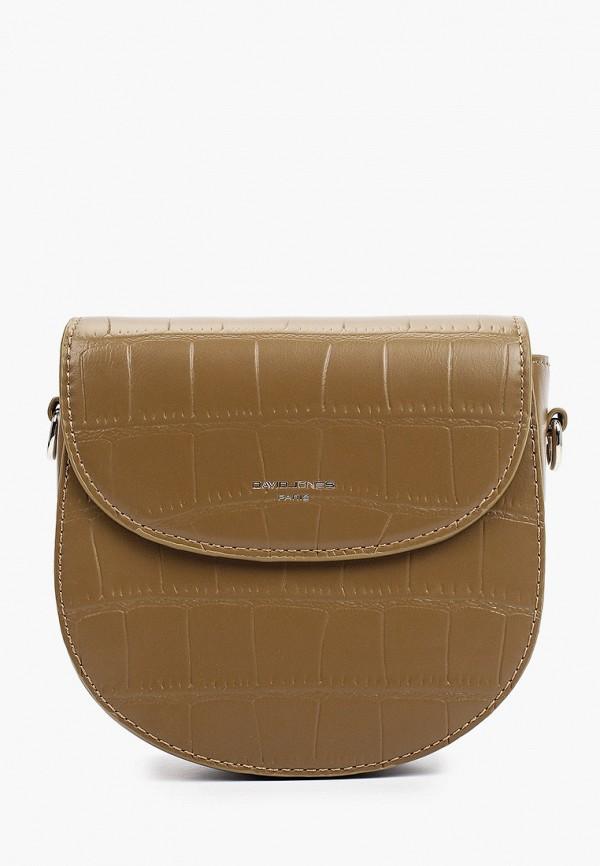 женская сумка через плечо david jones, хаки