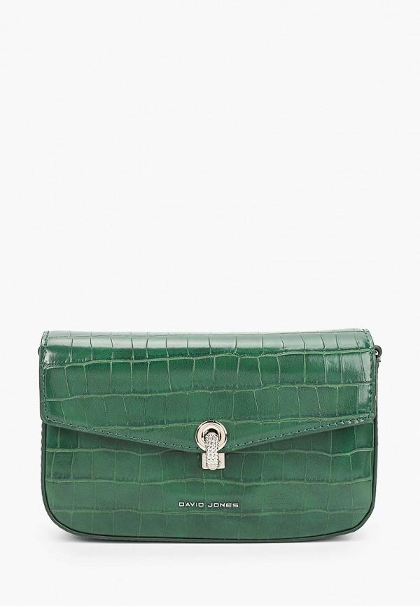 женская сумка через плечо david jones, зеленая