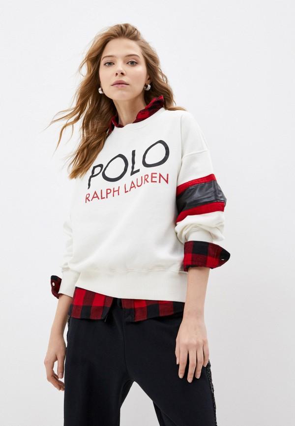 женский свитшот polo ralph lauren, бежевый