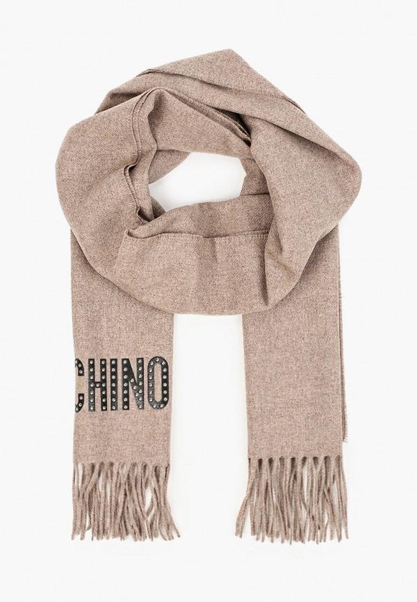 женский шарф moschino, коричневый