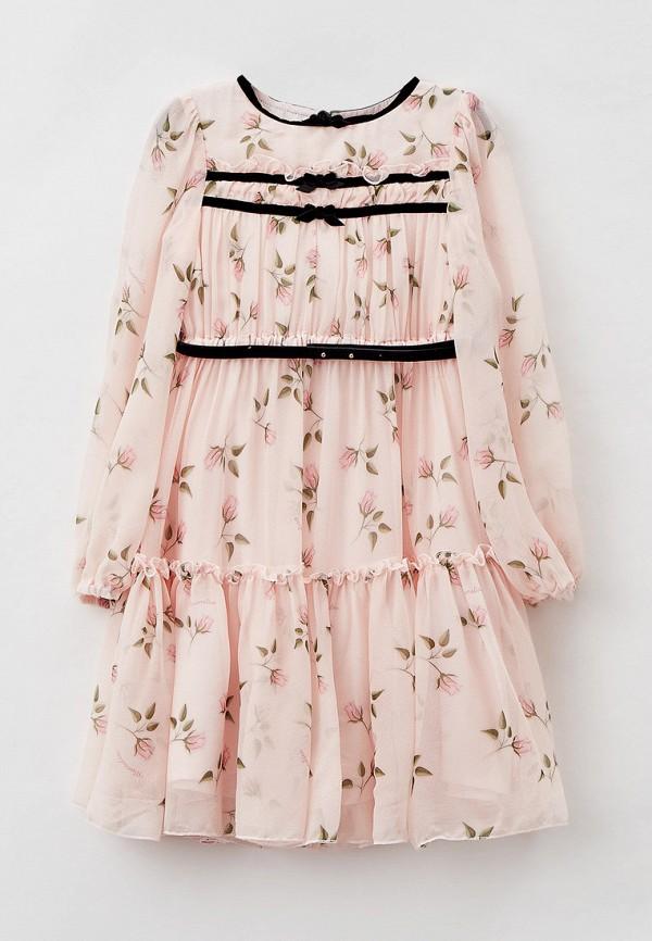 нарядные платье monnalisa для девочки, розовое