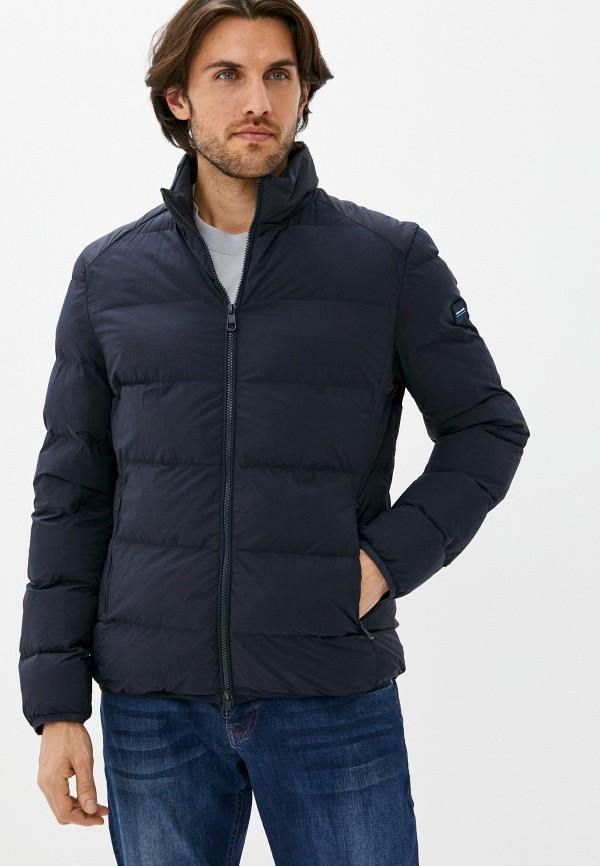мужская утепленные куртка pierre cardin, синяя