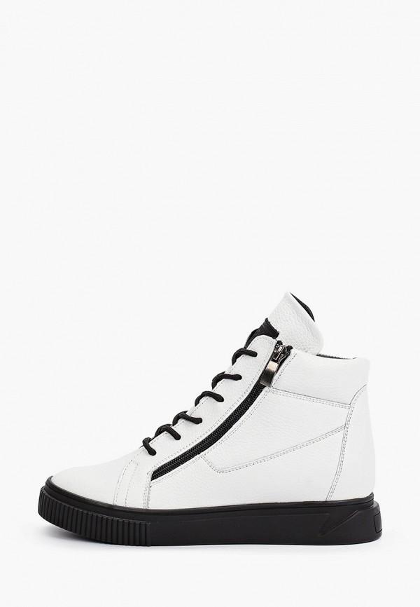 женские высокие ботинки vittorio bravo, белые