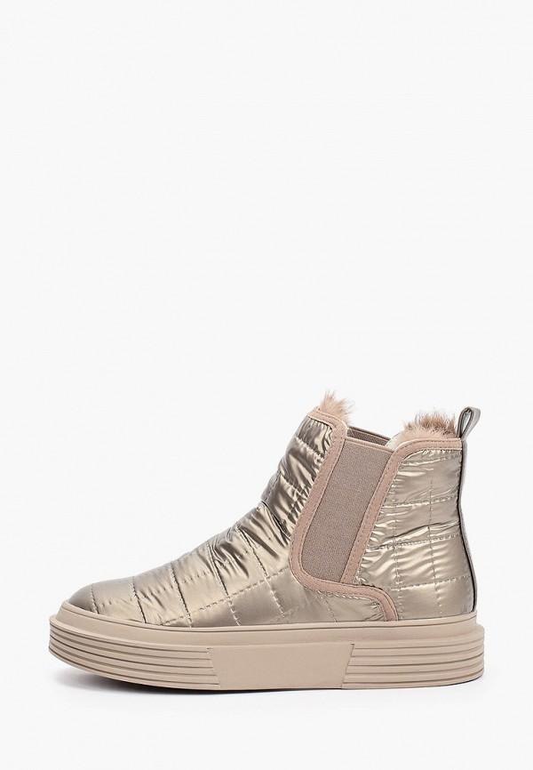 женские ботинки-челси respect, золотые