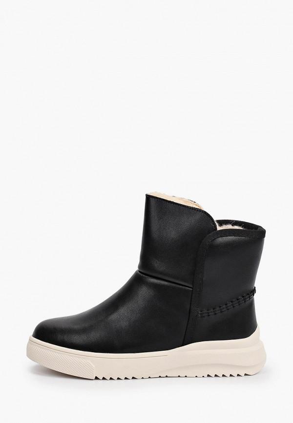 женские высокие ботинки respect, черные