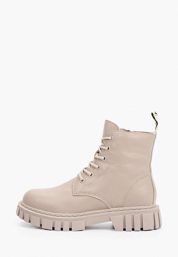 женские высокие ботинки respect, бежевые