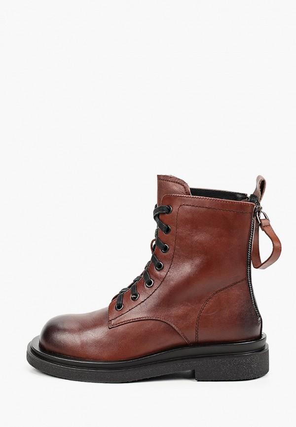 женские высокие ботинки respect, коричневые