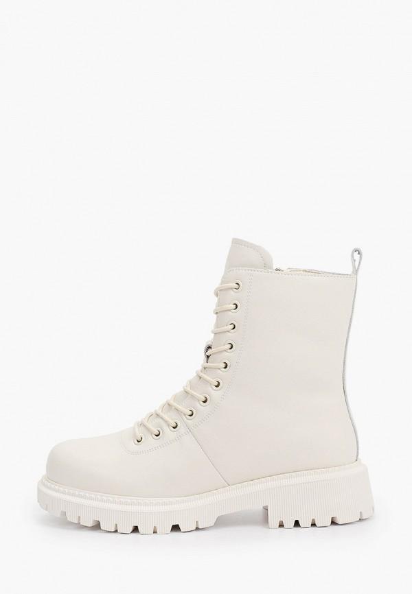 женские высокие ботинки respect, белые
