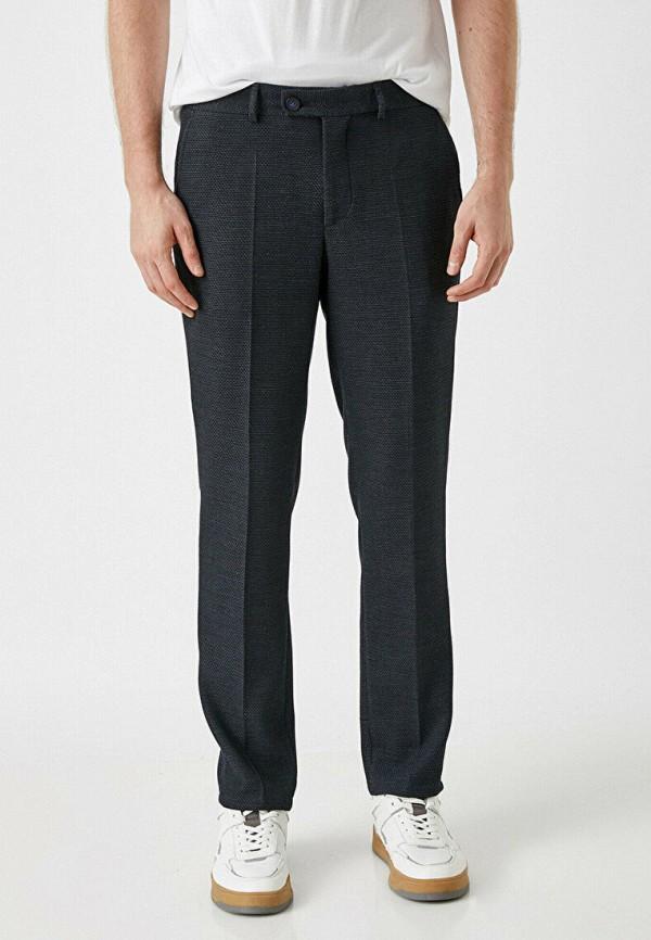 мужские зауженные брюки koton, синие