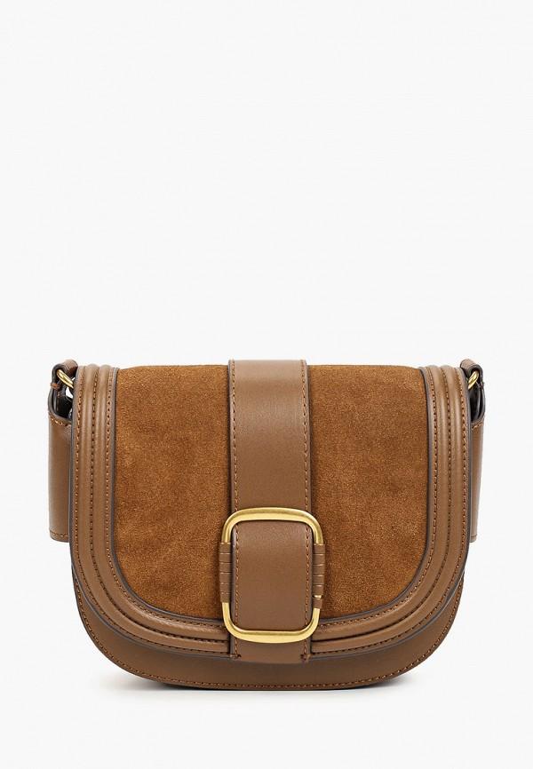женская сумка mango, коричневая