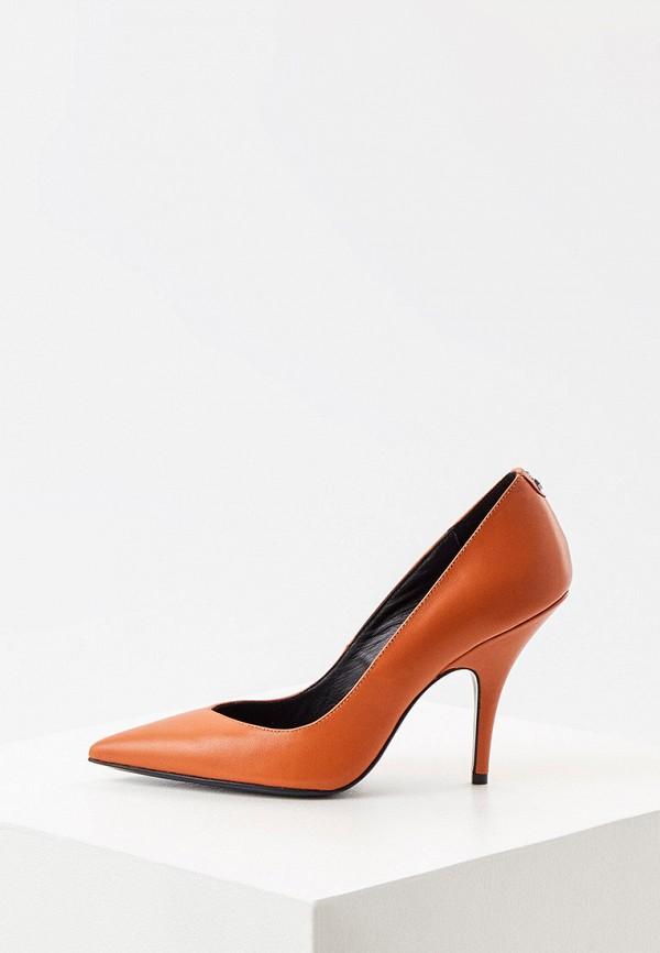 женские туфли-лодочки patrizia pepe, коричневые