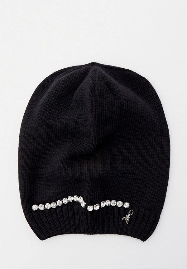 женская шапка patrizia pepe, черная