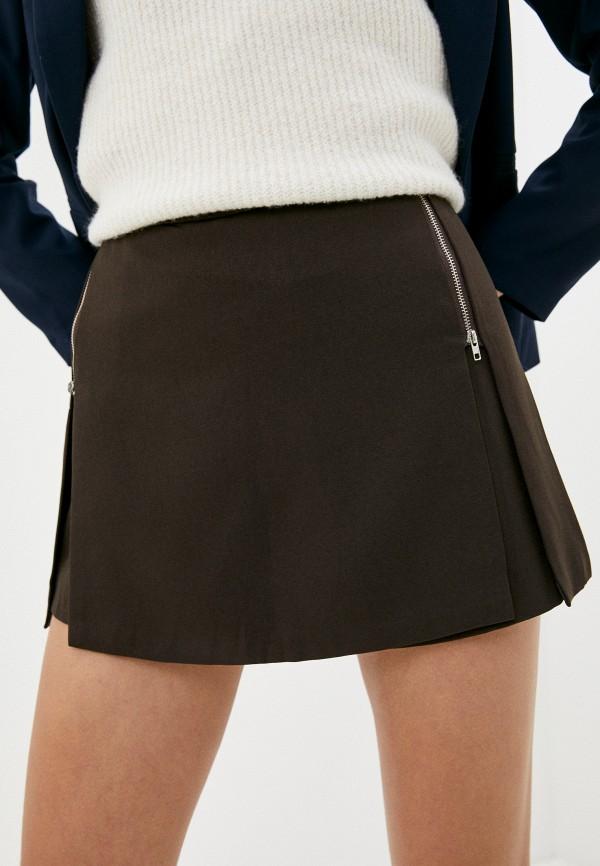 женская юбка elsi, коричневая