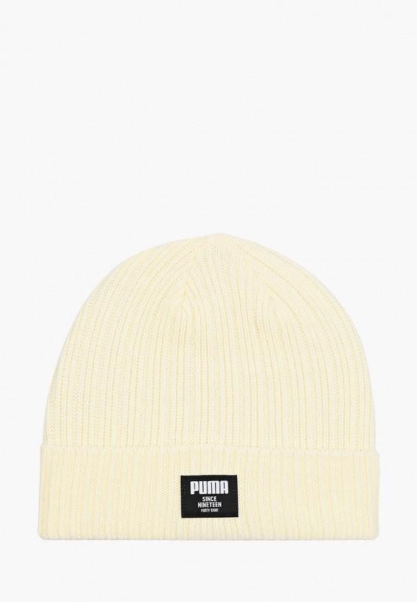 женская шапка puma, бежевая