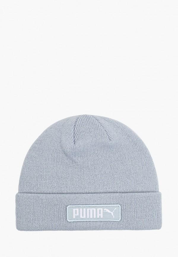 женская шапка puma, голубая