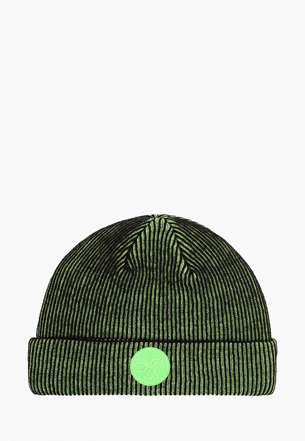 женская шапка puma, зеленая