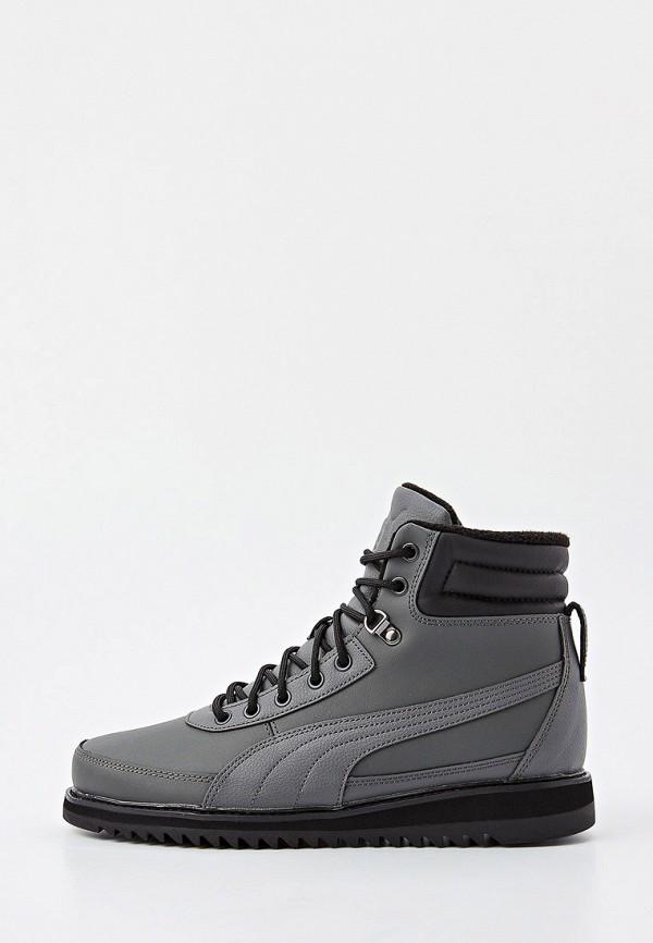 мужские ботинки puma, серые