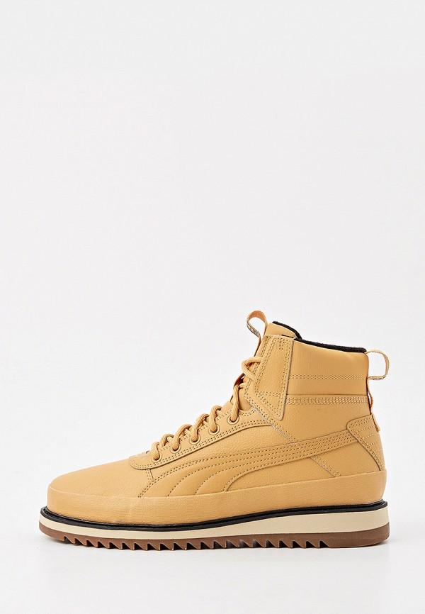 мужские ботинки puma, бежевые