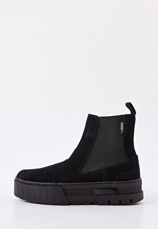 женские ботинки-челси puma, черные