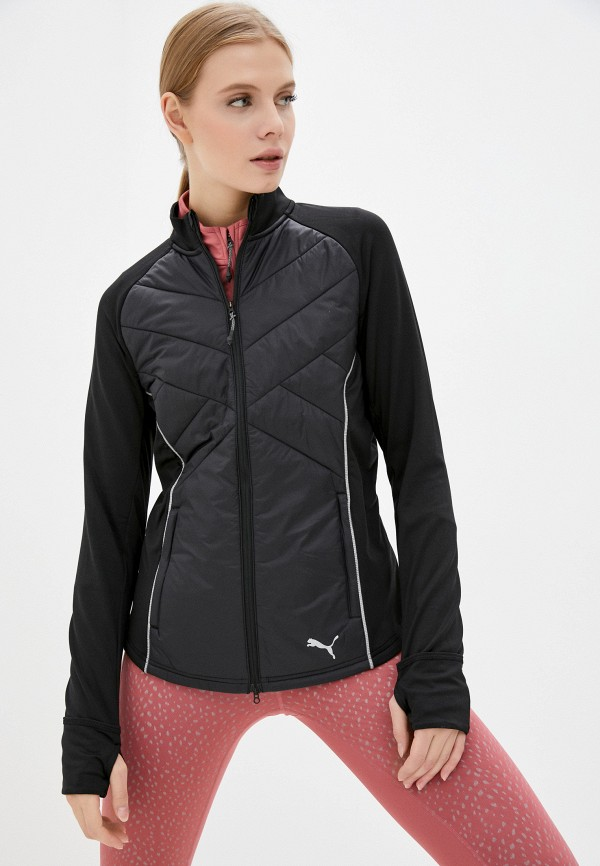 женская спортивные куртка puma, черная