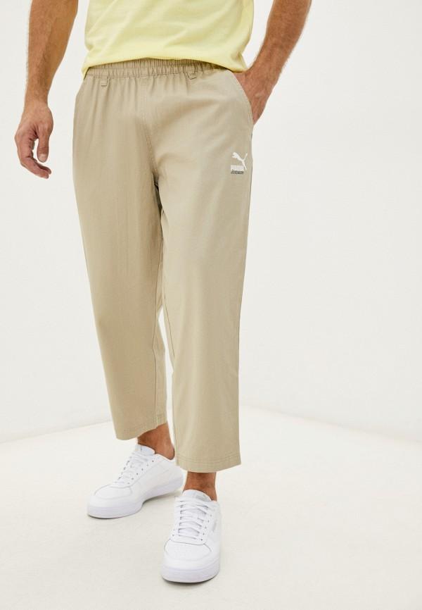 мужские брюки джоггеры puma, бежевые
