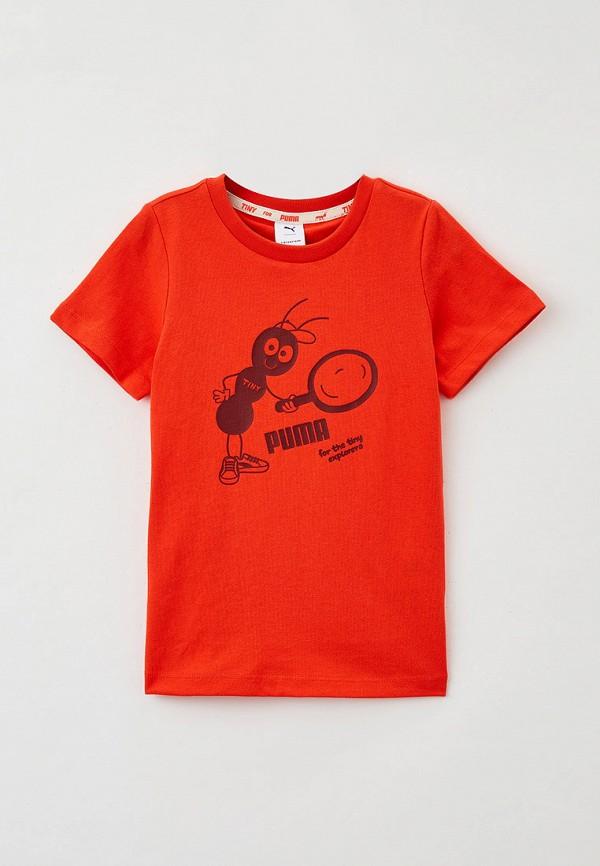 футболка с коротким рукавом puma малыши, оранжевая
